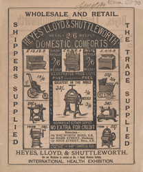 Advert For Heyes, Lloyd & Shuttleworth Domestic Comforts